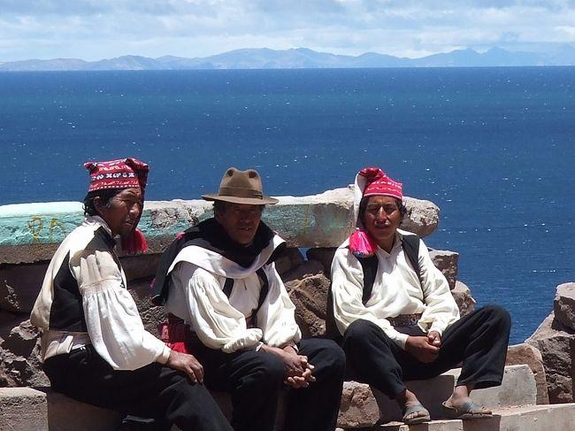 タキレ島の続き。<br />プーノの観光名所<br />-プーノの目玉:ウロス島半日観光、午前と午後毎日出ています。<br />-他の観光名所:タキーレ島、アマンタニー島、シジュスタニ遺跡観光<br />-ボリビア国ラパス側:太陽の島、月の島、カラウタ島とスリキ島<br />-プーノからクスコヘ列車とバスで行けます<br />-ボリビア国のラパスにもバスでチチカカ湖を観光しながら行けます<br />