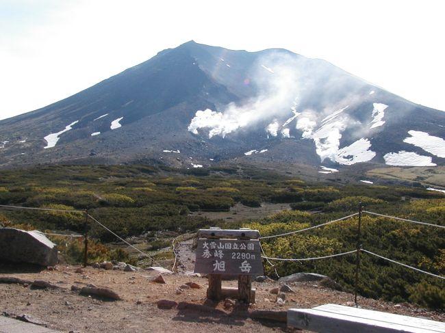 2002年7月。<br />友人の乱暴な誘いに乗り、大雪山登頂が決定した。<br />パーティの登山経験はほぼゼロ。<br />明らかに無謀なアタックであった。<br /><br />しかも出発は朝3時。その上日帰りである。<br />加えてついでに美瑛も見て帰ろう、という強行軍。<br />果たして無事札幌に帰還出来るのか?・・・<br /><br />札幌発着日帰りで大雪山旭岳登頂に挑む旅です。<br />なお他の旅行記や写真集もありますのでご覧下さい。<br />http://tohoku-r.gnk.cc/top/TohokuR<br /><br />