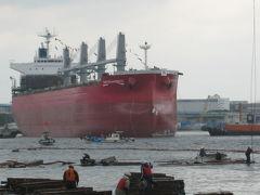 神戸港 進水式
