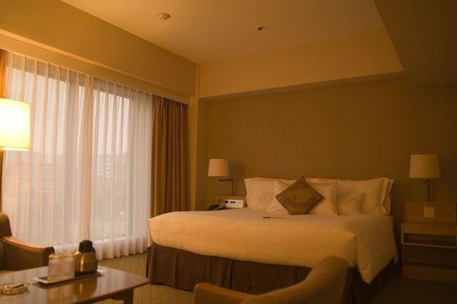 Sheraton都ホテル東京に宿泊を。<br />Starwood Preferred Guestの会員として、制覇を目指しての宿泊でした。<br /><br />あいにく雨のため、庭園には出られませんでした。<br />