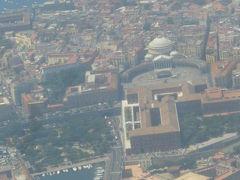 ナポリからローマ・・・空の旅