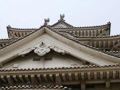 2008夏、世界遺産の姫路城(4):7月12日(4):大天守、乾小天守、西小天守、はの渡櫓、油壁、瓦紋