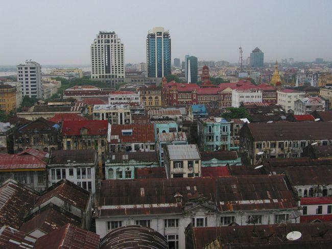 2005年6月ヤンゴン。<br />この時期は雨季ど真ん中。<br />雨ときどき大雨みたいな天気でした。<br />