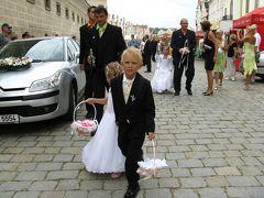 行ってきました真夏のチェコ!(05)テルチ城で結婚式だぁ~