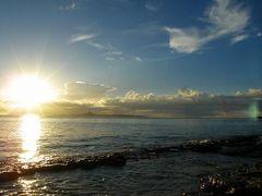 沖縄旅その3★備瀬崎ビーチの夕日&民宿