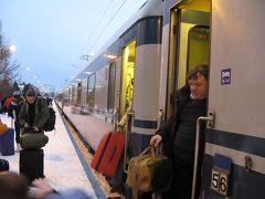 真っ暗なロシア・フィンランド・ラップランド14-273列車でRovaniemiへ