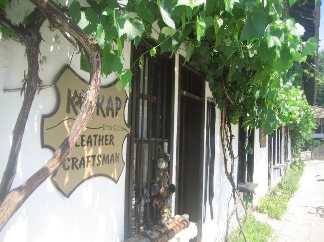 2008/07/14月 トリャヴナ日帰り<br />【宿泊:Hotel Balkan(ガブロヴォ泊)】<br />・聖ゲオルゲ教会<br />・聖ミカエル教会とイコン博物館<br />・学校博物館<br />・ダスカロフ・ハウス・ミュージーアム<br />・ペトコとペンチョー・スラべイコフ父子ハウス・ミュージーアム<br />ガヴロヴォに戻って、歩行者天国のラデツキー通りからパルマ・ヴィ広場〜聖トロイツァ教会〜聖ボゴロディツア教会周辺まで散策(民族復興時代様式の家の残る地区を散策)<br /><br />トリャヴナは小さな町です。<br />行政区はもちろん、もっと大きいですが、観光客にとってのトリャヴナは、旧市街とその周辺ですからね。<br />のんびりまわるのが板についた私にとって、等身大な町だなぁと思いました。<br />旧市街は、ブルガリアで最も美しいといって良い民族復興時代様式の建物が並ぶミュージーアム・タウンです。<br />なので、町歩きそのものが観光ハイライトといえます。<br />アウトガラ(バスターミナル)あるいは駅から旧市街までの道のりも、滞在するならこういう町かな、と思えた、落ち着いた地方都市のセントラル。<br />社会主義時代にありがちな味気のない建物はほとんど見当たらず(単に私がとった道だけだったかもしれませんが)、小さな商店街の並ぶ、車通りの多くない、アットホームなエリア。<br />それが自慢の旧市街を大事に包み込んでいる───そんなかんじを受けました。<br /><br />ただ、トリャヴナ行きを月曜日にぶつかるように旅程を組んだことを、ちょっぴり後悔しました。<br />ミュージーアムはほとんどない、あるいは用のない、町さえ見られれば良いところ、と思っていたから、たいていのミュージーアムが閉館となる月曜日に当てたのです。<br />面白そうなハウス・ミュージーアム2つほど、月・火は休館で見学できず、残念でした。<br />観光案内所で情報をもらったとき、ほぼ全部制覇したくなりました。<br />主にハウス・ミュージーアムで、ぶっちゃけていえば、昔のブルガリアの家の中の見学プラスなにがしかの展示ですから、どれも面白そうでしたし、見学に時間がかかりません。<br />でも、町の7つのミュージーアムのうち、入れたのは3つ。<br />入れたところは、じっくりゆっくり見学できましたけどね。うち2つは内部の撮影もできました。<br /><br />また、この町は、木彫りと並んで皮革製品が有名だときいていたので、ここで少し家族・知人へのおみやげを含めて、ショッピングも楽しみました。<br />それも目当てにしていましたよ。<br />買うとしても、お財布か定期入れくらいの小さな製品をちょこちょこですけどね。<br />民族復興時代様式の建物のほとんどが、メハナ(カフェ)やレストランか、ギフトショップ(いくつかは工房兼ショップ)のミュージーアム・タウンですから、お買い物しながら歩こうとする方が楽しいです@<br /><br />トリャヴナは、忙しい旅程の合間に、なるほどこういうところか、と分かる程度にささっと観光するなら、半日もいらないでしょう。<br />でも、ゆっくりしていても飽きない町です。<br /><br />「(前略)橋を渡り、木陰の多い公園を過ぎ、右に進むと(まだアンゲル・クンチェフ通り沿い)、デャド・ニコラ将軍広場に到着します。1814年に古典ブルガリア民族復興時代様式で最初に造られた、この絵のような広場には、正時に高らかに鐘を鳴らす時計塔(1844年)があります。広場に面した学校博物館(Staroto Shkolo)は、1836年建設の、町で一番古い学校で、全面修復後、いまはトリャヴナ絵画学校博物館(Tryavna Museum School of Painting)です。これは訪問する価値があります。また、広場を見渡すと、町で最も古い教会である大天使聖ミカエル教会があります。トルコ人により焼き払われた後、1819年に再建されたこの教会は、この町を有名にしているいくつかの精巧な木彫り作品を自慢にしています。教会にはまた、ブルガリアのイコン画の歴史を概観できる、こぢんまりしたイコン博物館があり、ささやかな入場料を払って見学する価値はあります。<br /> 石のアーチ橋(1844年)を進むと、ブルガリアでも最もステキな石畳の道であるスラベイコフ通りに入ります。(後略)」<br />(Lonely Planet(2nd edition 2005年刊)より私訳)