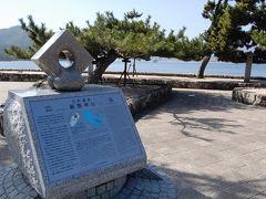 夜の広島、そして、高速艇で宮島へ。