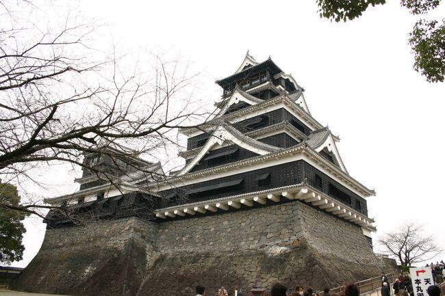 3日目は熊本城へ<br /><br />美しい城も見ておかなければと