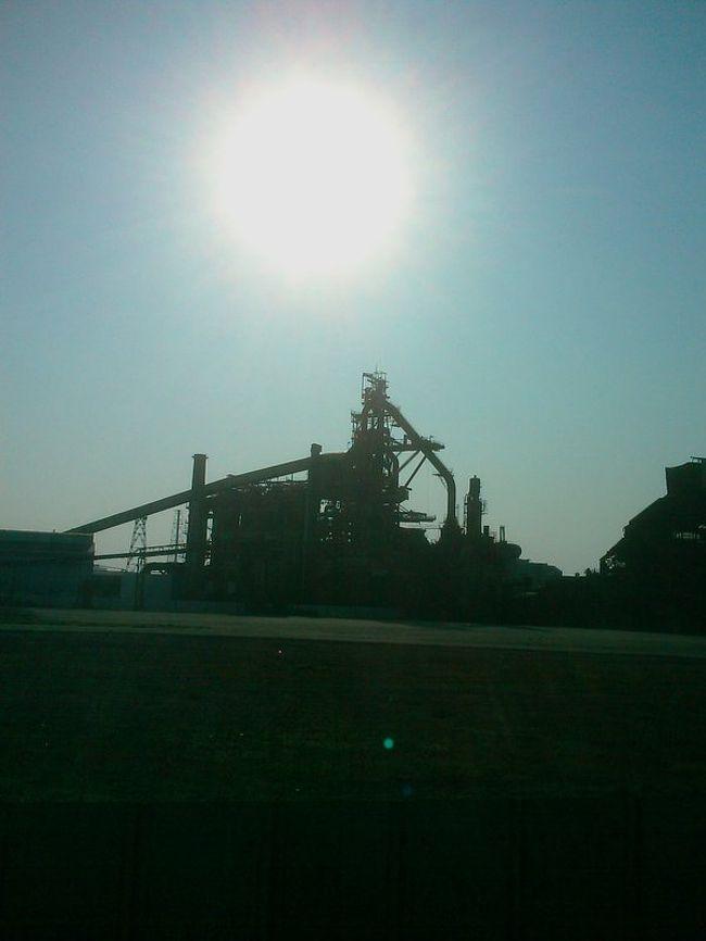 JR蘇我駅を出て右手に、黒くいびつな形をした建物が見える。<br />現在解体中のJFE蘇我第5溶鉱炉である。<br />このまがまがしい物体を見物してきましたよ。