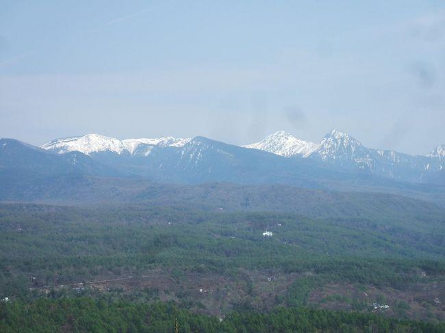5月の連休の合間にエクシブ蓼科に1泊してきた。カラマツの芽吹きが美しく、新鮮な蓼科高原の空気をいっぱい吸ってきた。<br /><br />写真:残雪の八ヶ岳