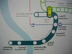 BTS1延長路線ウォンウェイヤイ駅からその先の国鉄SRTを目指す