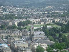 Bath の町は外から見なくっちゃ。Alexandra Park からBathを見下ろす。