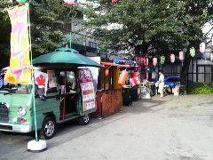 東京都小平市 クレープ、かき氷移動販売 盆踊り
