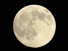たった今2009.10.3 18:15の月  中秋の名月
