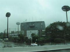 YCAT~幕張メッセ、雨のバス移動。CEATECへの車内でニヤニヤ。