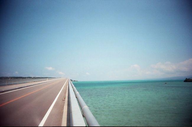 真栄田岬での青の洞窟シュノーケリング終了後は、<br />沖縄自動車道を使い北部方面へ。<br /><br />目的は、古宇利島・古宇利大橋。<br />昨年も是非とも行ってみようと、予定はしていたが<br />台風の影響のため、青空の下で見れなきゃ意味が無い・・・<br />と思い断念。。。<br /><br />今年こそは行くぞーーー!!