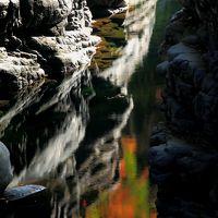 晩秋の面河渓谷