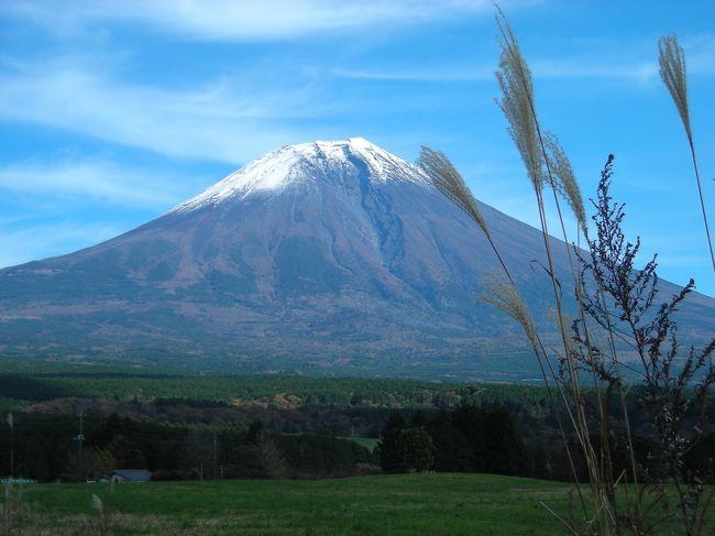 11月3,4,5日は富士宮浅間大社の秋祭り。祭りを境に寒さを感じるようになります。今年はちょっと早めの寒波到来でしたがまだまだ緑が多い富士南麓です。良い天気に誘われ、紅葉を求めて富士山北側に出かけてみました。富士宮側では雲に隠れていた富士山が山梨県側からはくっきり、はっきり見え、紅葉も見頃でした。最初の5枚は11月3日に撮った富士山です。後は4日のドライブで撮ったものです。