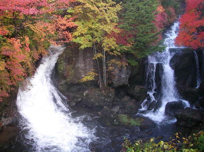秋真っ盛り!紅葉の時期ですネ(^^)<br /><br />北関東の人気のある紅葉観光スポットのひとつと言えばヤッパリ日光!<br /><br />今回はいろは坂を上り『竜頭の滝』へやってきました!!<br /><br />竜頭の滝は奥日光三名瀑のひとつ。<br />湯ノ湖から流れ出た湯川が中禅寺湖注ぐ手前にあります。<br /><br />男体山の噴火により出来た溶岩の上を210メートルにわたって流れ落ちてます。<br /><br />滝壷近くが大きな岩によって二分されていて、その様子が竜の頭に似ていることからこの名がついたと言われてます。<br /><br />四季を通じて様々な美しさがあると言われてますが、その中でも紅葉の竜頭の滝の様子とその後立ち寄った日光金谷ホテルやステーキハウス「みはし」など観光とグルメの日帰り旅をお楽しみください♪<br /><br />*再編集版*<br /><br /><br />