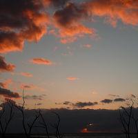 内灘海岸に沈む夕日◆2009年晩秋・金沢&能登半島の旅【その7】