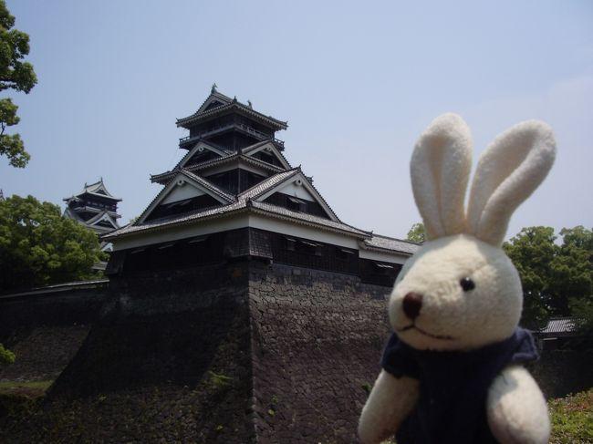 住んでいた熊本に久々に行く機会があったので、<br />帰りのバスまでの時間でちょいと熊本城に行ってみました。<br /><br />