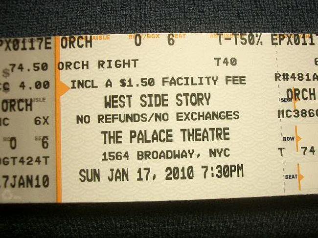 tkts に並んで West Side Story の40%引きの切符を手に入れて、見てきました。