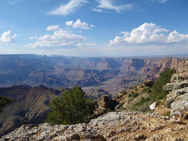 あたしが一番好きなアメリカ!!<br />中でも、ず~っと前から行ってみたかったアメリカの大自然についに行ってきました♪<br /><br />何度も行きたい!と思ってアメリカには行ってみたけど、行く機会に恵まれず結局行けずにいた、モニュメントバレーや、グランドキャニオンや、etc...<br />やっと行けたアメリカの大自然の中は、思い描いていた通り!いや、それ以上の大きな大地と、地球ってすごいなぁ~って心の底から思う気持ちがありました☆<br />あたしが行った所は、ほんのちょっとで、ほんの少しの時間だったけど、充実した10日間でした♪<br /><br />ついに最後の目的地☆グランドキャニオンへ向かいます。<br /><br /><br />☆☆☆☆☆☆☆☆☆☆☆☆☆☆☆☆☆☆☆☆☆☆☆☆☆☆☆☆<br /><br />1日目☆6/29 成田→サンフランシスコ(観光)<br />2日目☆6/30 サンフランシスコ観光 →ラスベガス<br />3日目☆7/1 グランドサークル5日間ツアー①(ザイオン・ブライスキャニオン)<br />4日目☆7/2 ②(アーチーズ)<br />5日目☆7/3 ③(モニュメントバレー)<br />6日目☆7/4 ④(グランドキャニオン)<br />7日目☆7/5 ⑤ →ラスベガス<br />8日目☆7/6 ラスベガス観光<br />9日目☆7/7 ラスベガス→<br />10日目☆7/8 成田帰国<br /><br />☆☆☆☆☆☆☆☆☆☆☆☆☆☆☆☆☆☆☆☆☆☆☆☆☆☆☆☆