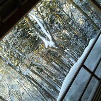 長野 山田温泉「藤井荘」で、雪見風呂♪