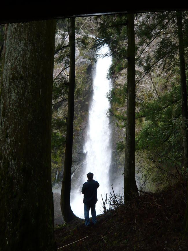 """「轟の滝」の後、南国方面に少し戻ったところにある2つの滝(岩屋滝・大荒の滝)を訪れました。<br />「轟の滝」と同様に前日の雨のせいでやはり凄い水量...<br />特に『大荒の滝』はその名の通りに""""大荒れ""""状態でした(笑)。"""