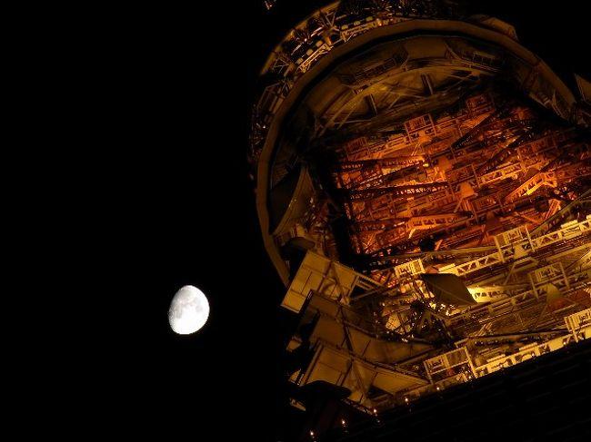 ある月の綺麗な晩に、東京タワーを訪れました。
