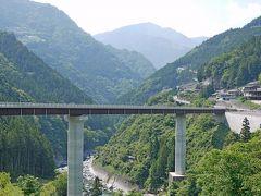 2010.6祖谷・鳴門旅行4-かずら橋からホテル秘境の湯まで歩く