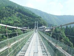 結構人がいた谷瀬の吊り橋@十津川村