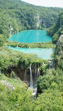 やってきたぜ!! 2010 クロアチア新婚旅行 『これが見たかった♪展望台からのプリトヴィッツェの絶景♪見れて気分は最高だぜ♪♪』 IN プリトヴィッツェ湖群国立公園