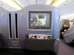 タイ国際航空 TG623 ビジネスクラス 関西空港発 → バンコク行