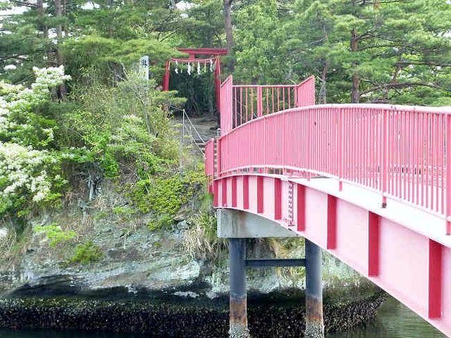 千賀の浦 』に浮かぶ 【 曲木(まがき)島の籬神社 】-1 籬神社へは橋 ...