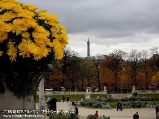 秋のカルティエ・ラタンを歩く。<br />Le Jardin Luxembourg(ル・ジャルダン・リュクサンブール)こと、リュクサンブール公園(ルクサンブール公園)の秋の様子を写してきました。<br /><br />パリ:2010年11月初旬<br /><br />今秋の紅葉を満喫できるのは、今週末が最後のピークになりそうです。<br /><br />プライベート・ホームズ<br />http://www.private-homes.com/paris/<br /><br />アクセス方法<br />最寄駅はRER(郊外とパリをつなぐ電車。パリ市内中心部では地下鉄とほぼ同等)の「Luxembourg」駅下車、「Jardin du Luxembourg」出口を出てすぐ右手。<br />入り口は他にもありますが、ここからのアクセスが一番、宮殿部分へのアクセスが分かりやすくて、初めて行く人には楽だと思います。<br /><br />カルティエ・ラタンかサンジェルマンからも歩いて行けます(方向音痴の人はRERをつかいましょう)。<br />