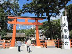 2010秋、上賀茂神社(1):10月1日(1):赤鳥居、式年遷宮の標識、神馬、イカズチ号像、高倉殿、幣殿