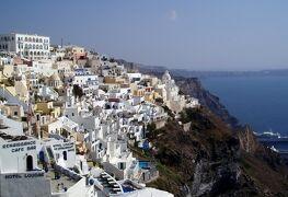 サントリーニ&アテネ/ギリシャとドバイの旅♪    vol. 2 青と白のコントラストが美しいフィラの街歩き