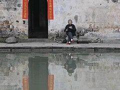 ★早春の安徽省古村(4) −宏村の月沼と南湖