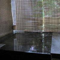 子どもと一緒に入る、山代温泉の部屋付き露天風呂