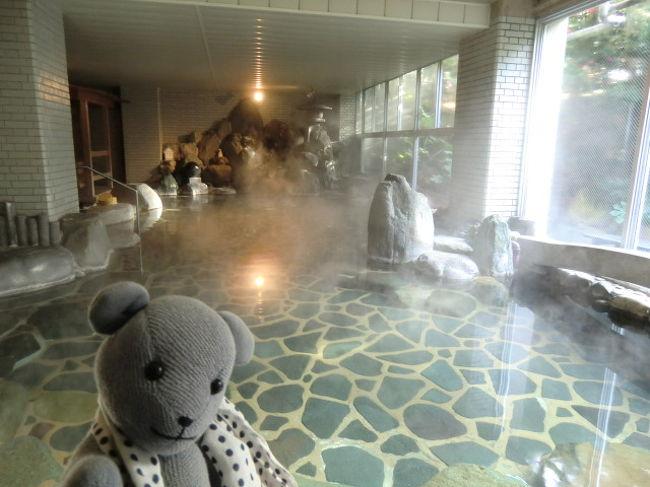 年末恒例県内1泊旅行。<br />今年は長門湯本温泉の老舗、ホテル枕水です。<br />着いて早々「お風呂見せて」とお願いしましたら、快く見学させていただいたのでした(感謝)