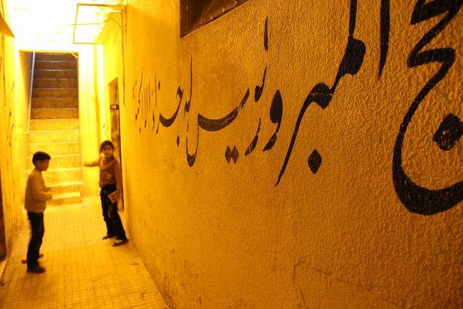 中東は私のお気に入りのエリア。しかし、ここ数年中東を訪れていなかったので、久しぶりにアザーンの声が響く中東の旧市街を歩いてみたく、年末年始の休みを利用してシリア・ヨルダンを旅行してきました。<br /><br />最近はいつも事前に宿や乗り物、ガイドなどを手配して旅行しておりましたが、今回は自分のペースでゆっくり中東の旧市街や遺跡を歩いてみたかったので、ほとんど事前手配なしのバックパッカーの旅行です。いやいやこんな旅何年ぶりだか。<br /><br />旅の始まりはアレッポから。アレッポは、東西と南北の2本の重要な交易路の交差点として古くから栄え、世界で最も古い都市の一つと言われています。ここの街歩きは、今回の旅で楽しみにしていたことの一つ。というのも、ガイドブックの「ロンリー・プラネット」で「中東、いや恐らく世界で最も街歩きが楽しい」と説明されていたからです。実際、適当に思いつくまま旧市街をぶらぶら歩いてみると、魅力的な風景が次々目の前に現れてきます。観光化されていない日常がむき出しのスーク、石造りの家が並ぶ小さな路地、昔は商隊宿だった市場、そのどれもが絵になる…。旅の途中で出会った旅行者の何人かも「アレッポが一番素晴らしかった」と言っており、アレッポは旅行者にとって中東一魅力な都市と言っても過言ではなさそうです。<br /><br />~シリア・ヨルダン旅行日程~<br />12月28日(火)エディハド航空・成田発<br />★12月29日(水)アブダビ経由ダマスカス着。バスでアレッポへ移動。アレッポ観光・宿泊。<br />12月30日(木)アレッポ観光。午後タクシーでデッドシティを経由しながらハマへ移動。ハマ泊。<br />12月31日(金)ハマ発クラック・デ・シュバリエ観光。夕方ホムスからパルミラへバスで移動・宿泊。<br />1月1日(土)パルミラ観光。夕方ダマスカスへ移動。ダマスカス泊。<br />1月2日(日)ダマスカス観光。ダマスカス泊。<br />1月3日(月)ダマスカス観光。夕方セルビスでアンマンへ移動。アンマン泊。<br />1月4日(火)死海観光。アンマン泊。<br />1月5日(水)朝バスでアンマンからペトラ(ワディ・ムーサ)へ移動。午後ペトラ観光。ワディ・ムーサ泊。<br />1月6日(木)ペトラ1日観光。ワディ・ムーサ泊。<br />1月7日(金)ワディ・ムーサからバスでワディ・ラムへ移動。ワディ・ラムで沙漠ツアー。沙漠のテントで宿泊。<br />1月8日(土)ワディ・ラムからアカバまでタクシーで移動。アカバからアンマンまでバスで移動。アンマン泊。<br />1月9日(日)午前中アンマンでだらだら過ごす。午後アンマンからアブダビ経由で成田へ。<br />1月10日(月)午後成田着。<br /><br />~通貨単位~(2010年12月末現在)<br />シリア・ポンド(SP):1SP=約2円<br />ヨルダン・ディナール(JD):1JD=約120円<br /><br />※旅行記では通貨価値を便宜上円換算しておりますが、シリア、ヨルダンでは一部を除いて銀行・両替所で日本円から現地通貨への両替はできません。今回の旅行ではドルを持って行きました。