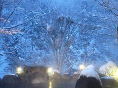 秘境の雪景色 湯西川温泉 Vol5(第2日目 朝) 伴久ホテルの雪見朝風呂と朝食♪
