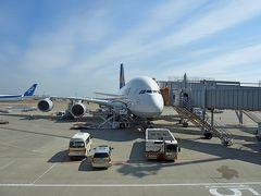 【海外28】2011.2モナコ・リビエラ・マルタ一人旅1-飛行機待ち時間の成田,A380でフランクフルトへ