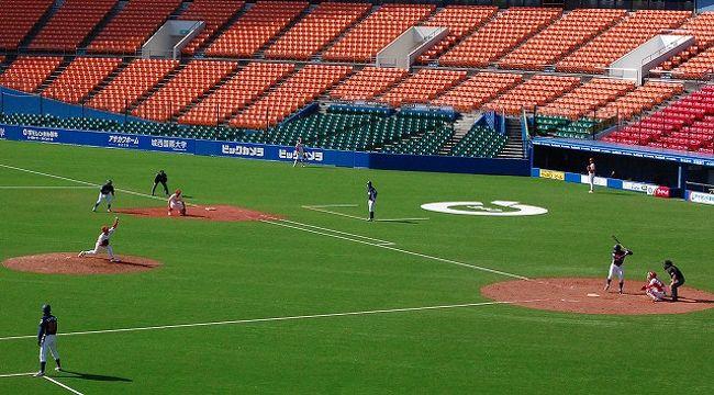 またまたやってきました、球春到来。<br />風が吹くと寒い千葉ロッテマリーンズの本拠地、千葉マリンスタジアム!と言いたいところだが、<br />ネーミングライツで「QVCマリンフィールド」っていう名前になりました。<br /><br />社会人野球、スポニチ大会を観戦してきました。<br />セガサミー    対 住友金属鹿島<br />JR九州     対 JFE東日本<br />JX−ENEOS 対 NTT東日本<br />の3試合でした。<br /><br />まだ、このときには、地震が来るなんて事は知らずに・・・。<br />