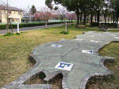 2011春、豊田市民文化会館(1)枝下公園、豊田市民文化会館界隈、紅枝垂桜、雪柳、県章