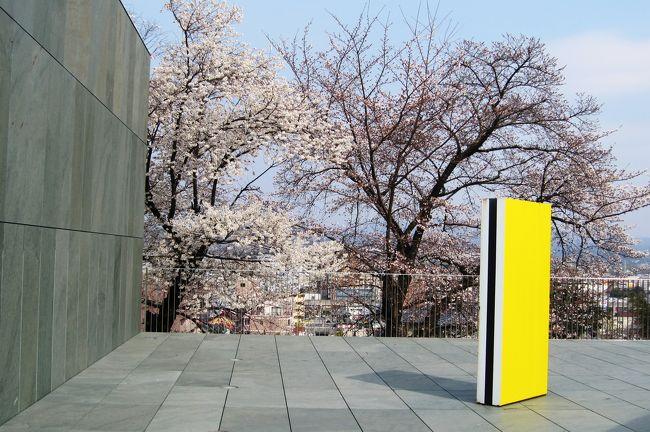 豊田市美術館紹介の続きです。内部の撮影は出来ませんから、建物と庭園を紹介します。庭園には、七分咲位のソメイヨシノがありました。一気に咲き始めたようです。