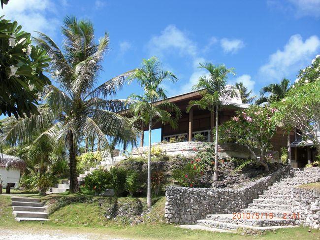 3回目のロタ島<br /><br />3日間ダイビング三昧をして、観光最終日の午後だけ 島内観光しました。<br /><br />ホテルのオーナーに頼み、レンタカーを手配。<br />地図って言っても…<br /><br />島に村は一つ。ガソリンスタンドも1件のみ。<br />信号は、ありません。<br />通る車は 私たちにも挨拶してくれる。<br />見たことない人にも、優しい。<br /><br /><br />全然地図の意味をなさない、適当に走ります。<br />自然の中を、疾走。<br />途中、恐竜みたいな生物に遭遇。<br /><br />楽しみにしていた、パエリャを食べて、満足。<br /><br />帰国日には、12時間だけグアムに滞在しましたが、やることありませんでした。<br />次は、素直に帰ろうっと。