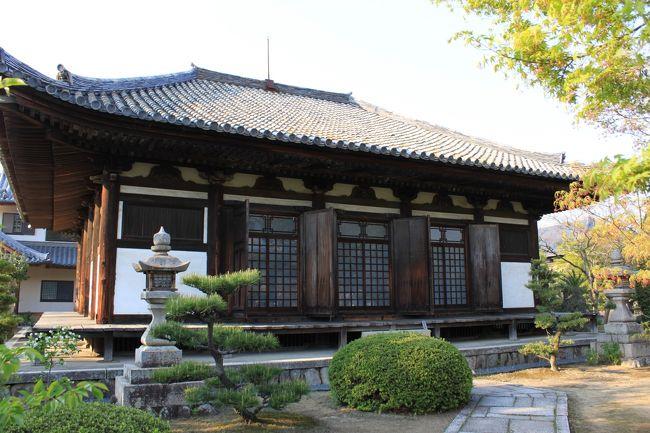 大阪府内では5ヵ所しかない国宝に指定されている建造物の一つ、<br />大阪府貝塚市木積にある孝恩寺の釘無堂を訪ねました。<br />聖武天皇が僧行基に命じ、神亀三年(726年)に建立されました。<br />建立のとき用材をこの地に集めたことから「木積」の地名が起こったとされています。<br />ここの観音堂は鎌倉時代後期の再建で大阪府下では最古の部類の木造建築物で、創建時釘を使わ無かったところから別名「釘無堂」と呼ばれています。